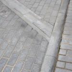 trinkelių šaligatvio klojimas mini kvartalui