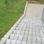 trinkelių klojimas laiptams daugiabučio kieme