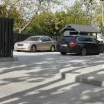 trinkelių klojimas daugiabučio kieme automobilių aikštelei